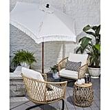 Better Homes and Gardens Ventura Fringe Push-Up and Tilt Patio Umbrella
