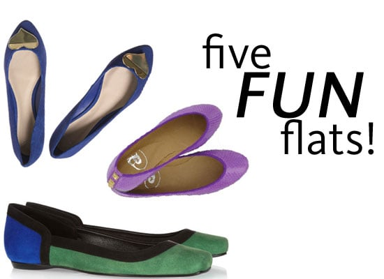 Top Five Fun Coloured Flats Online: Banish Those Boring Black Ballet Flats with these finds from Missoni, Topshop and more!