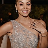 Jasmine Sanders at the 2019 Elton John AIDS Foundation Academy Oscars Party