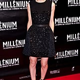 Rooney Mara in a black dress for The Girl With the Dragon Tattoo.