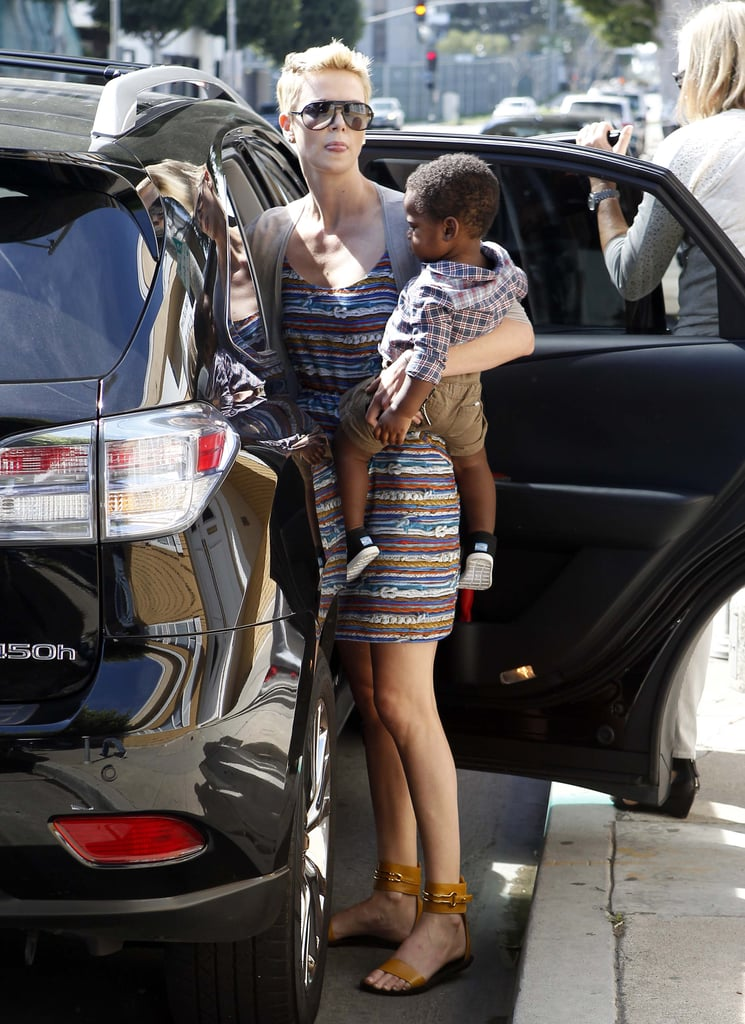 Charlize Theron Takes Jackson For a Trim in His TOMS