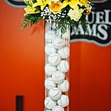 Baseballs as Vase Decor