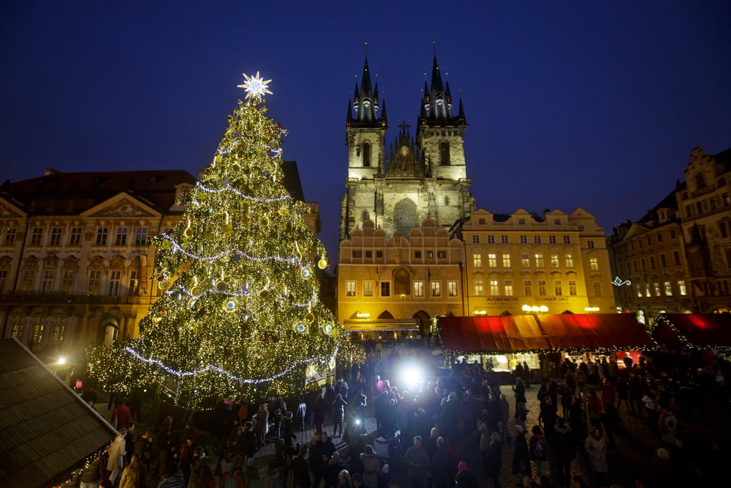 Prague's Christmas market drew crowds in the city's Old Town Square.