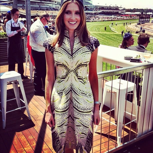 Kate Waterhouse looked cute in Josh Goot at Crown Oaks Day. Source: Instagram user katewaterhouse7