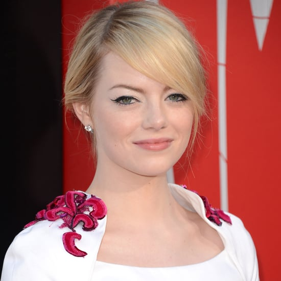 Emma Stone in White Chanel Dress Pictures at The Amazing Spider-Man LA Premiere