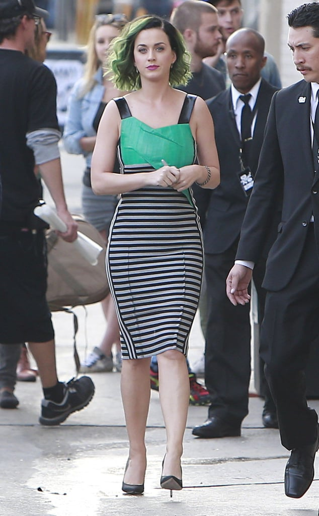 Katy Perry dropped by Jimmy Kimmel Live in LA on Monday.