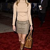 Then: In the 2000s, Kate still knew how to match like a pro, and she was totally on trend with this turtleneck and miniskirt ensemble.
