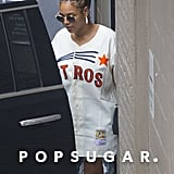 Beyoncé Rocks a Houston Astros Jersey While Grabbing Lunch With JAY-Z and Solange