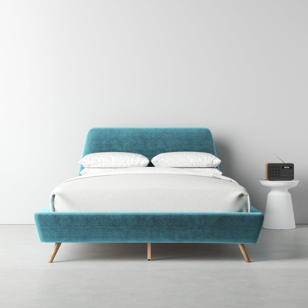 Makenna Solid Wood and Upholstered Bed