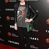 Keep it rocker-cool like Ashlee Simpson — leopard-printed pumps and a leather jacket will help achieve the look.