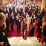 Lisa Sugar walked up the steps to the Dolby Theatre to prepare for the Oscars. Source: Instagram user briansugar