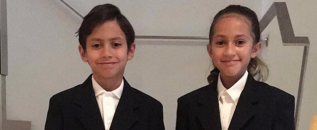 Jennifer Lopez's Twins' First Day of School Photo 2017