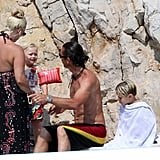 Shirtless Gavin Rossdale Soaks Up the Sun With Zuma and Kingston