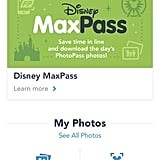 "Open the Disneyland app and click on ""Show PhotoPass Code."""