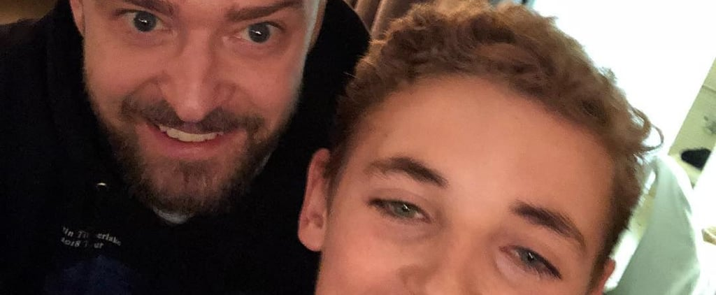 Justin Timberlake and Selfie Kid's Selfie April 2018