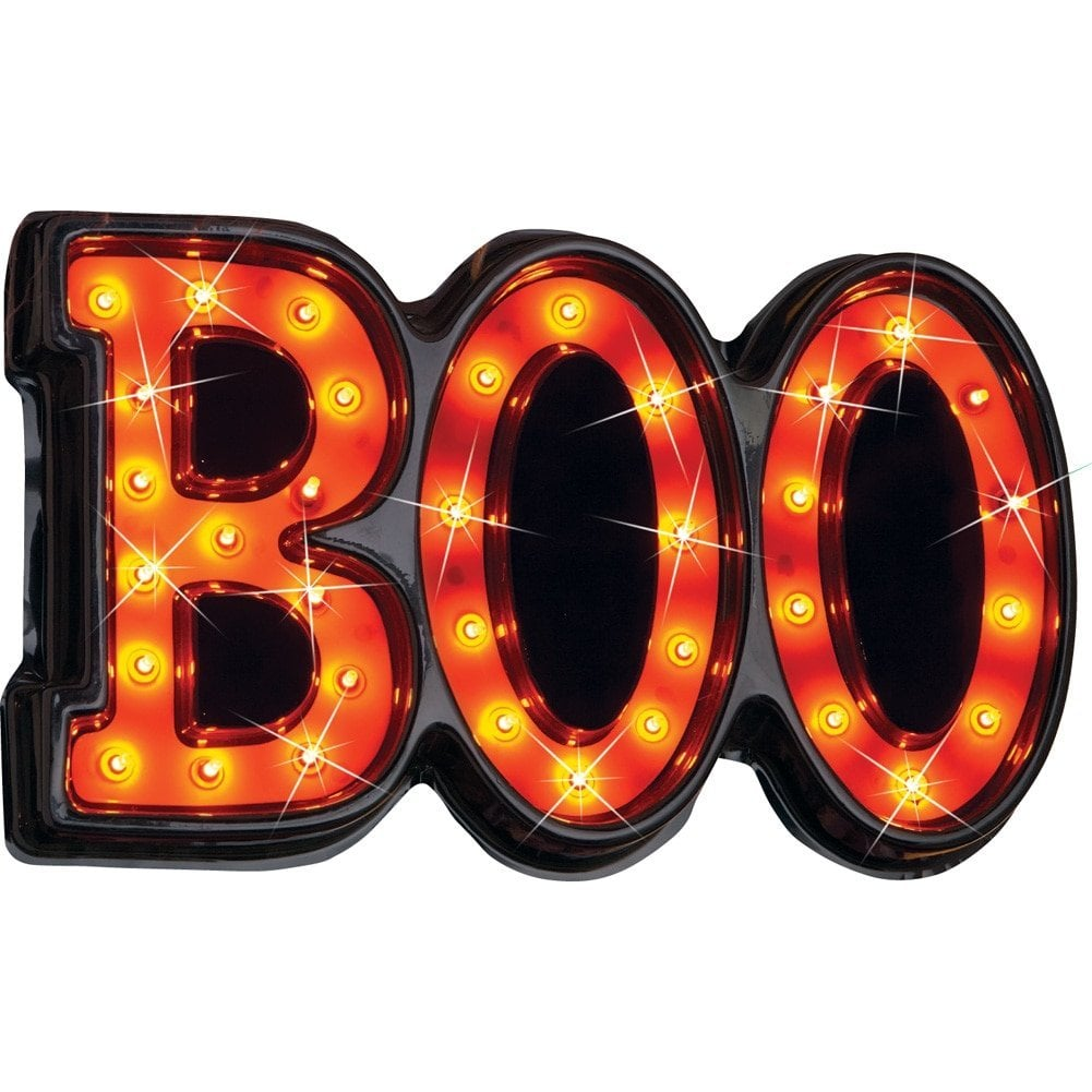 Collections Etc Lighted Halloween Boo Sign | Halloween Decorations ...