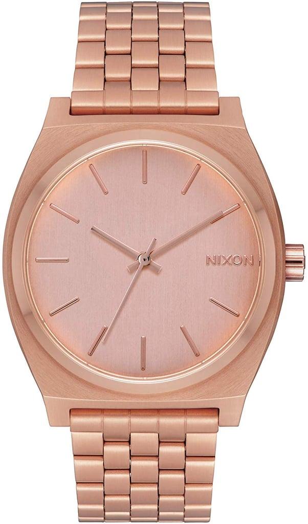 Nixon Time Teller Rose Gold Watch