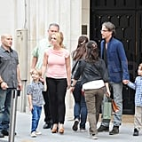 Britney Spears and Jason Trawick explored the City of Lights with her sons Jayden James and Sean Preston.