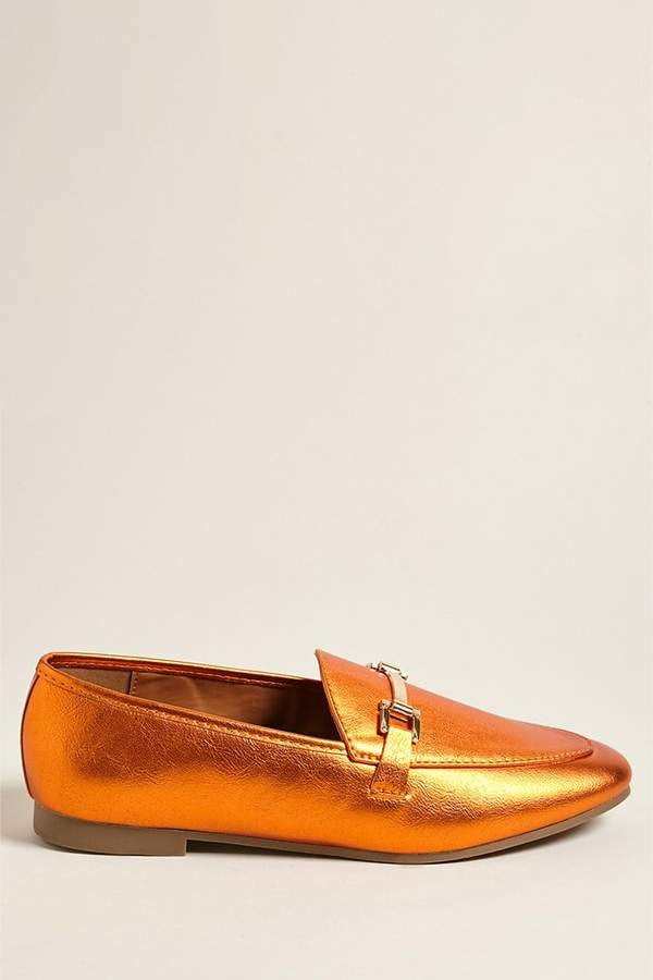 Forever 21 Metallic Pointed Loafers