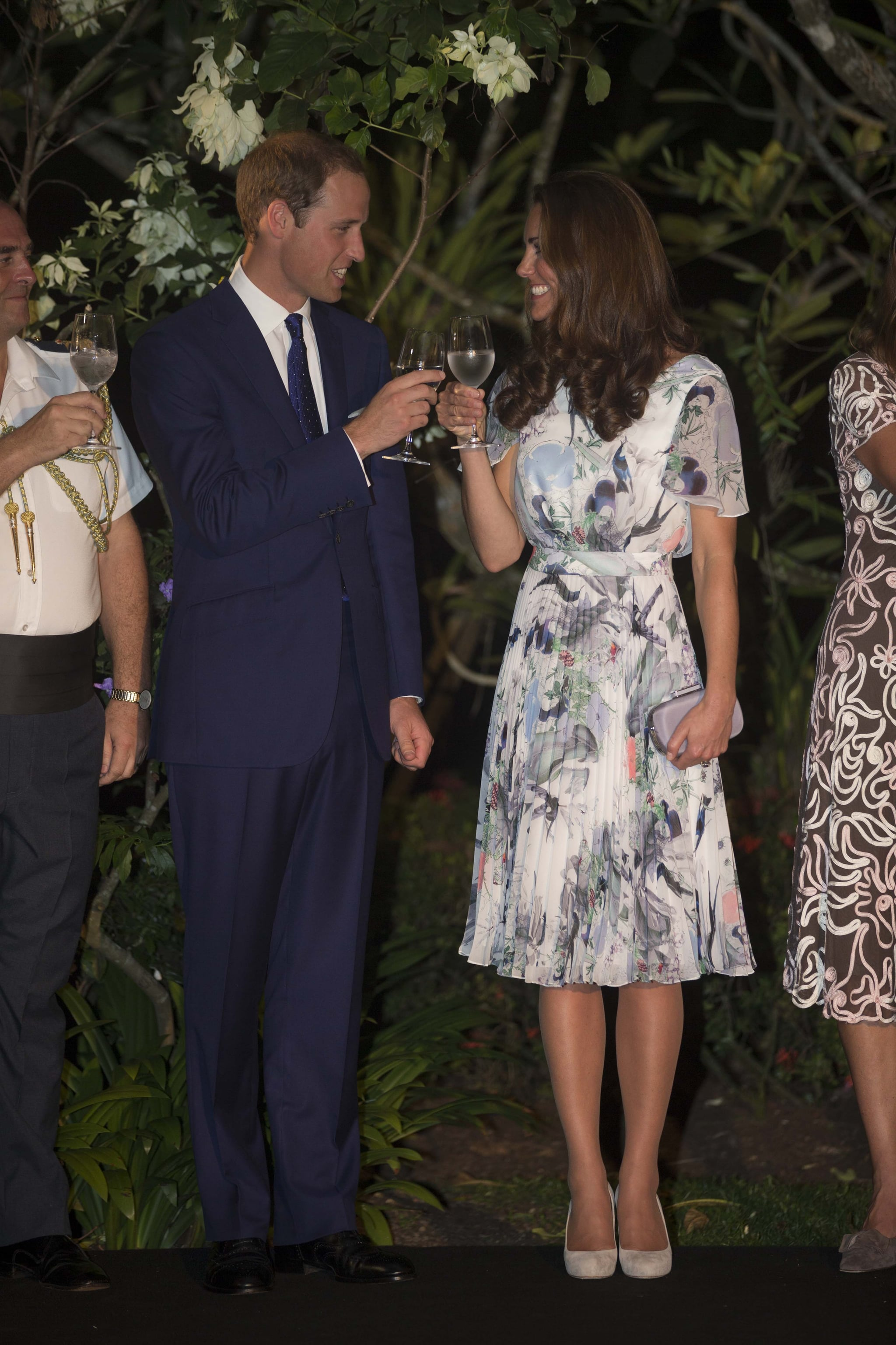 In September 2012, the couple toasted during their tour of South East Asia.
