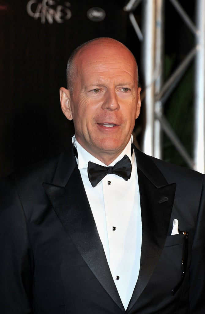 Bruce Willis got dressed up for the Cannes Film Festival opening night dinner.