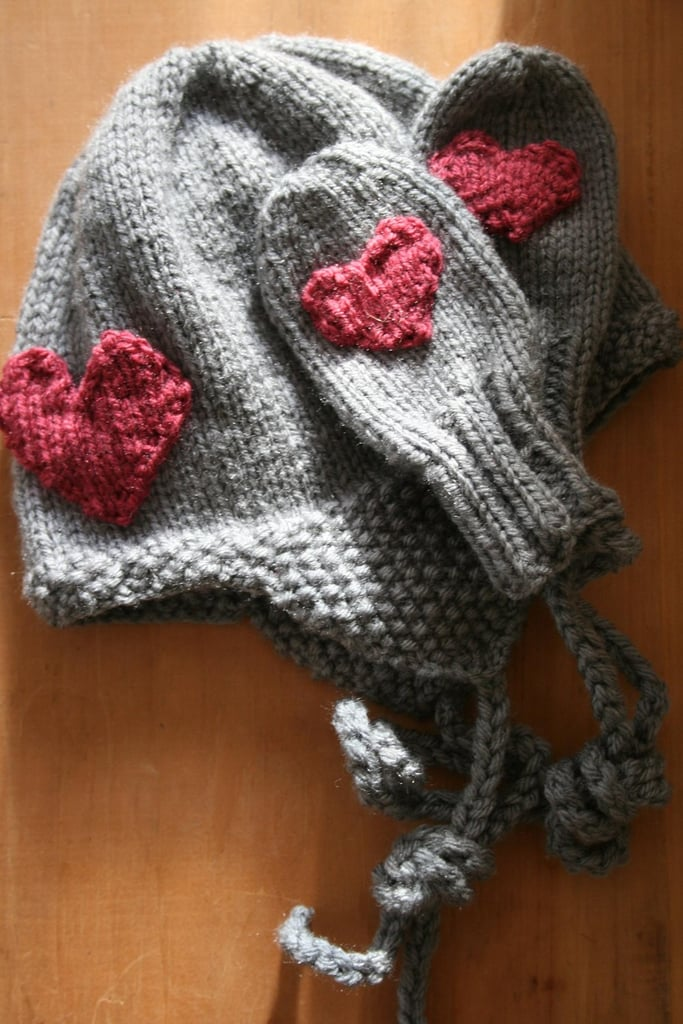 L'Amour Hat and Mittens