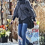 Cameron Diaz scoured for a cab in the West Village in NYC.