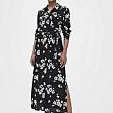 Gap Perfect Maxi Shirtdress, Black Floral