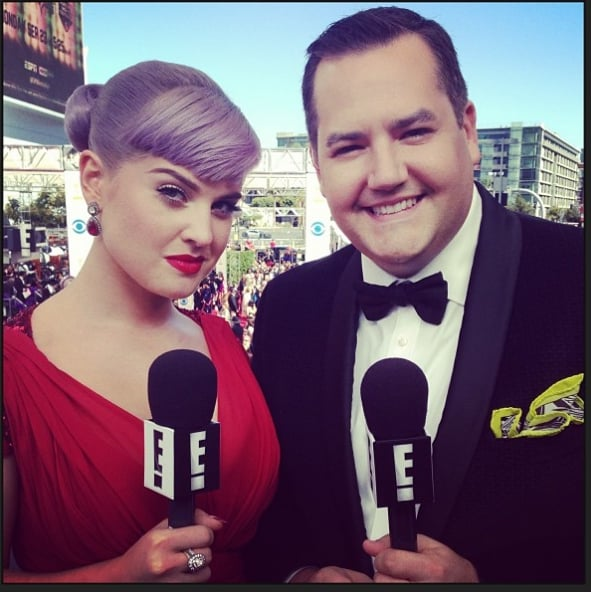 Kelly Osbourne was looking red hot and ready to host E!'s red carpet preshow with Ross Mathews.  Source: Instagram user kellyosbourne