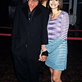 Julia's flashy shift came in turquoise and lavender. She rocked the memorable outfit with purple sandals at the NYC premiere of My Best Friend's Wedding in 1997.