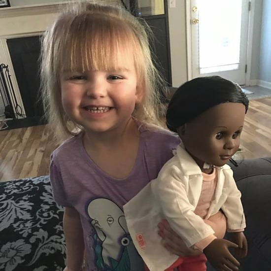 Toddler With Doll Teaches Cashier Lesson on Differences