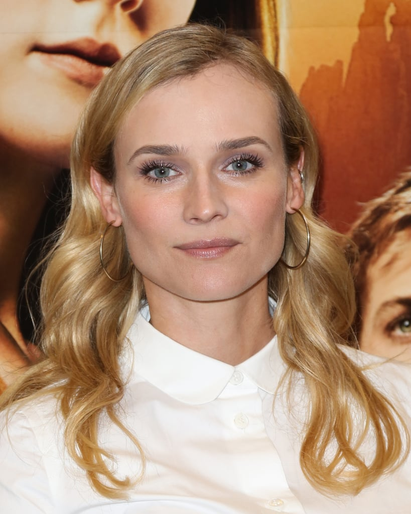 Leave it to Diane Kruger to prove that lavender eyeshadow is prettier and more wearable than you'd ever expect. Ground the pastel hue with a taupe shadow at the crease to make it feel more natural, and bring it all together with a fresh glow on the cheeks and lips.