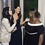 Pictured: Dianne Doan, D'Arcy Carden, and Retta