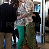 Channing towered over his petite wife, Jenna.