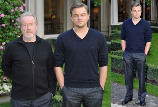 Photos of Leonardo DiCaprio and Ridley Scott at Body of Lies Paris Photo Call