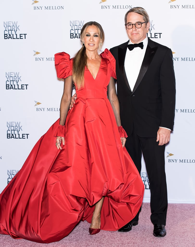 Sarah Jessica Parker was the belle of the ball at the New York City Ballet Fashion Gala on Thursday night. The actress made a dazzling appearance with husband Matthew Broderick, and we simply couldn't take our eyes off her gorgeous red gown. Clearly aware of how incredible she looked, Sarah twirled around on the red carpet and posed for a few photos of her own.  Sarah's glamorous appearance comes on the heels of Freeform's announcement that a Hocus Pocus anniversary special is headed to the network, just in time for Halloween. In honor of the beloved film's 25th anniversary, the Hocus Pocus 25th Anniversary Halloween Bash will air on Oct. 20 and will feature interviews with the original cast, including Sarah, Thora Birch, Kathy Najimy, and Amanda Shepherd. How exciting!      Related:                                                                                                           Over 20 Years Worth of Sarah Jessica Parker and Matthew Broderick's Big City Love