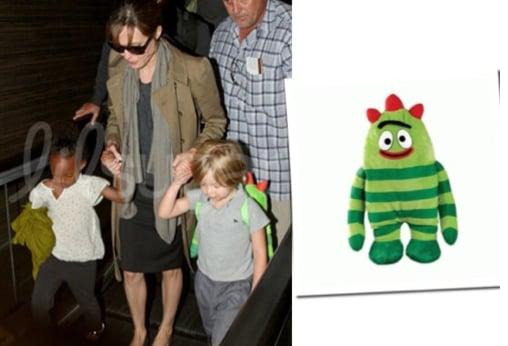Angelina Jolie, Shiloh Jolie Pitt and Zahara Jolie Pitt