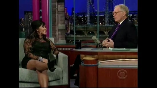 Snooki Asks David Letterman To Try On Her Snooki Slippers