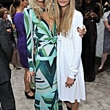 Poppy and Cara looked irresistibly boho chic at the Serpentine Gallery Summer Party in June 2011.