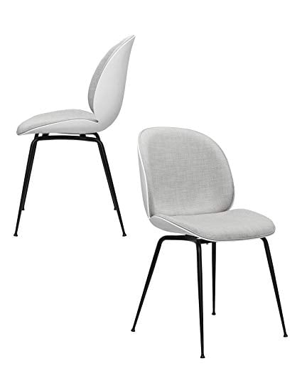 Whitney Mid Century Modern Beetle Side Chairs, Set of 2
