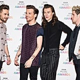 One Direction at the BBC Music Awards in 2015
