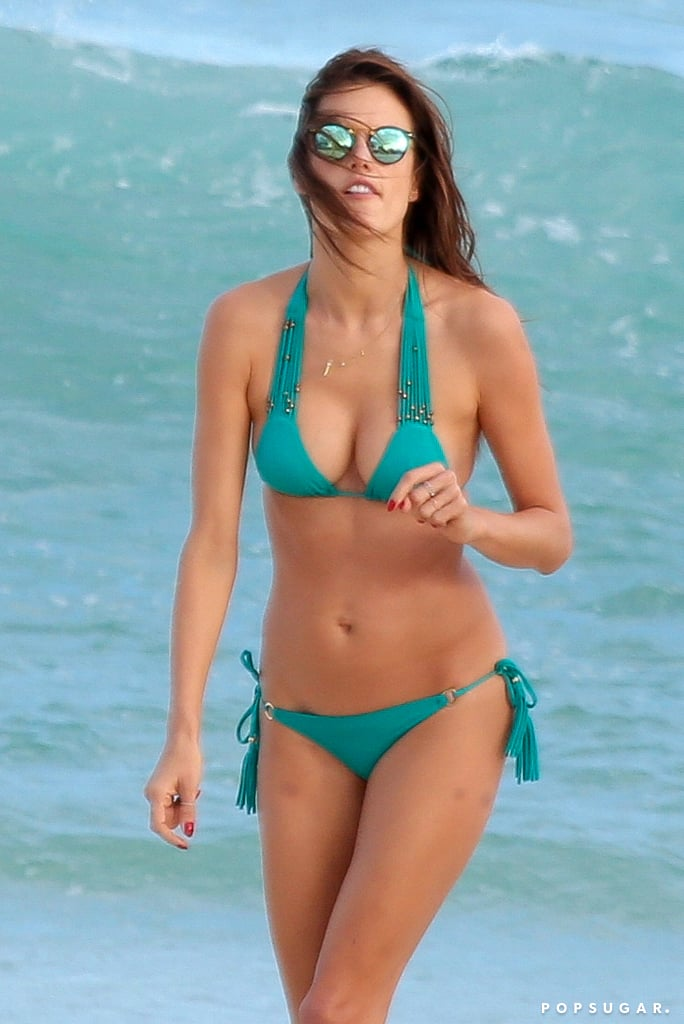 In June 2015, Alessandra hit the beach to soak up the sun in Brazil.