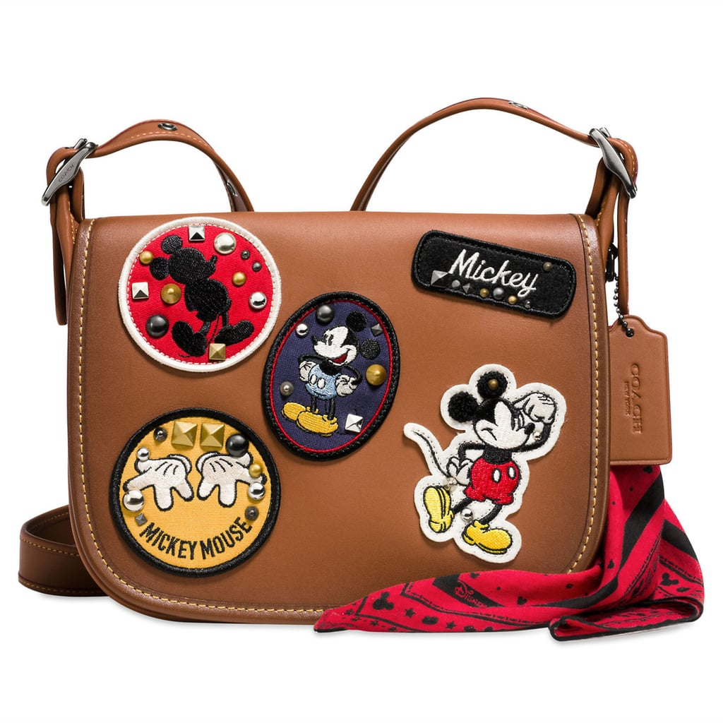 Mickey Mouse Patch Patricia Leather Saddle Bag by Coach ($390)