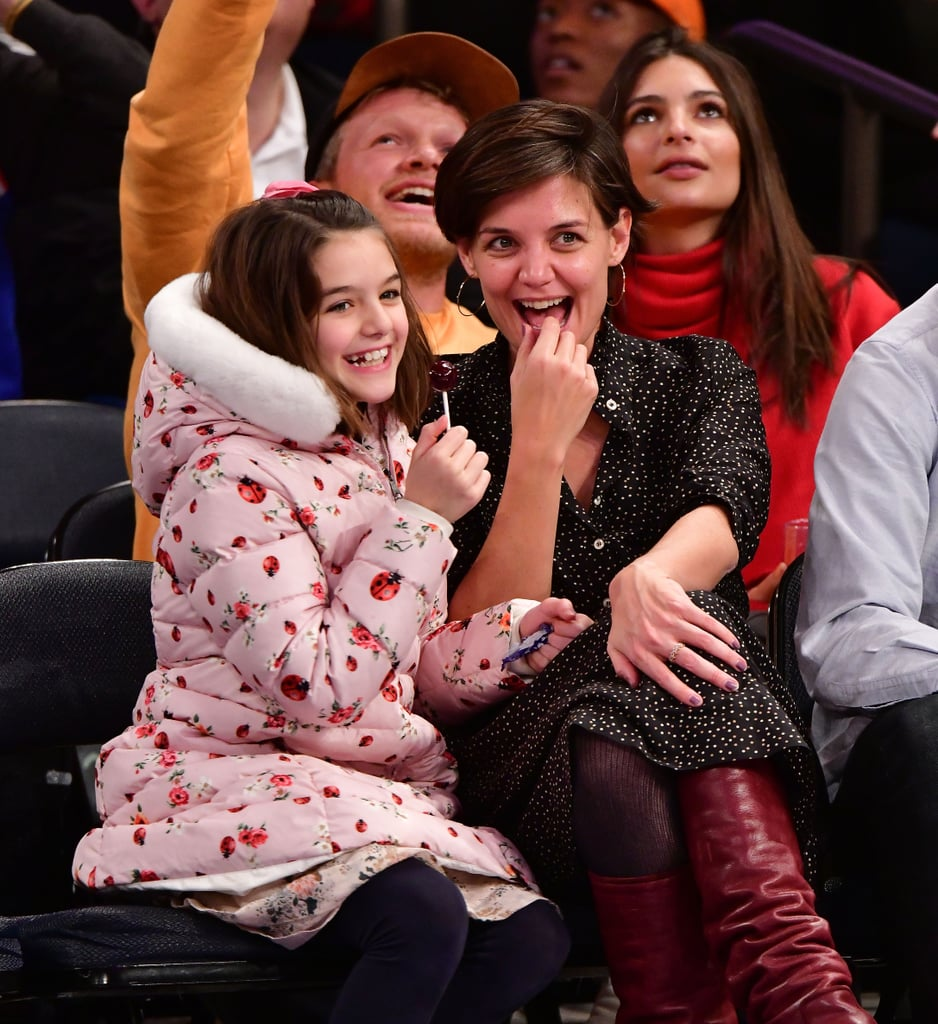 Katie Holmes and Suri Cruise at Knicks Game December 2017