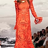 An Orange Lace Gown From the Zimmermann Runway at New York Fashion Week