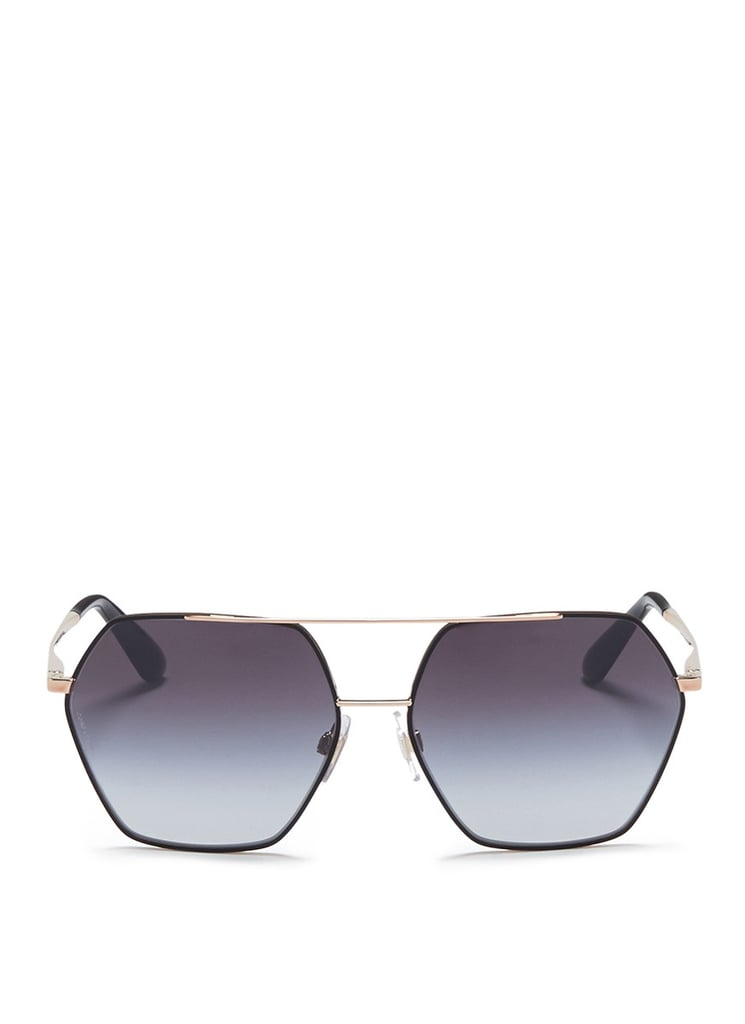 In Gabbana Go And Sleek Gold Black Hexagonal Dolceamp; Aviator POkiXZu
