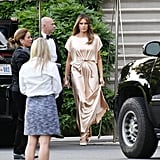 Melania Trump Wore a $2,595 Champagne-Hued Gown by Monique Lhuillier