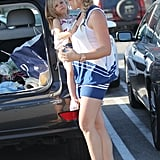 Busy Philipps wore a striped dress to Whole Foods.