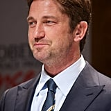Gerard Butler had a smile on his face in Oslo.