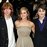Emma Watson in 2004, With Rupert Grint and Daniel Radcliffe